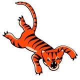 Pulando desenhos animados do tigre Fotografia de Stock
