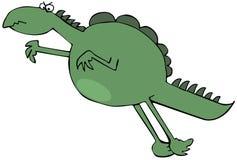 Pulando o dinossauro verde ilustração do vetor