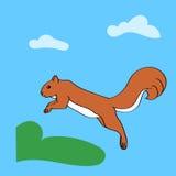 Pulando o esquilo Fotografia de Stock