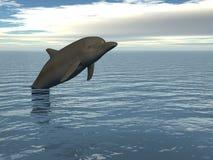 Pulando o golfinho Fotografia de Stock