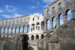 Pulas Croacia de la arena Imágenes de archivo libres de regalías