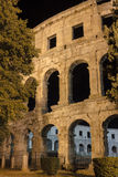Pulas romanas Croacia del anfiteatro de la reproducción Foto de archivo