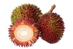 Pulasan Fruits Isolated Stock Photos
