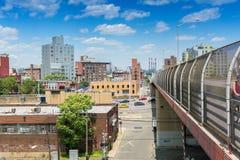 Pulaski桥梁在纽约 免版税图库摄影