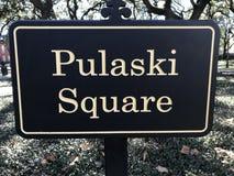 Pulaski kwadrat po środku sawanny, Gruzja obrazy stock