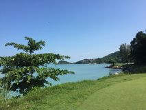 Pulau Besar hav - Melaka Fotografering för Bildbyråer