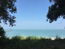 Pulau Besar strand Arkivbilder