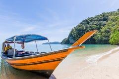 Pulau Gua Cherita, Langkawi,马来西亚 免版税图库摄影