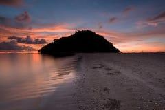 Pulau Kelambu古达沙巴马来西亚 免版税库存照片