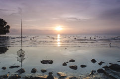 Pulau Ketam马来西亚日落  免版税图库摄影