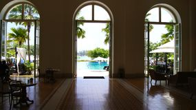PULAU LANGKAWI, MALAYSIA - 4. April 2015: Innerhalb DES DANNA-Luxushotels auf Langkawi-Insel Stockbild