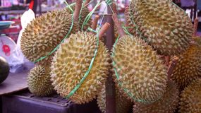 PULAU LANGKAWI MALEZJA, APR, - 4th 2015: Tradycyjne azjatykcie owoc na ulicznej nocy i jedzeniu wprowadzać na rynek na Langkawi w Obraz Royalty Free