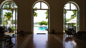 PULAU LANGKAWI MALEZJA, APR, - 4th 2015: Wśrodku DANNA luksusowego hotelu na Langkawi wyspie Obraz Stock