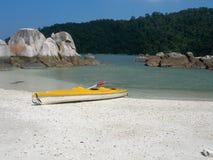 Pulau Pangkor 1. Kayak on the idyllic tropical island of Pangkor in Malaysia royalty free stock photo