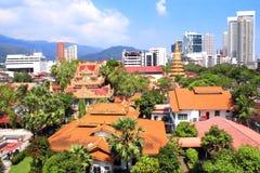 Pulau Tikus, templo budista tailandês, Georgetown, ilha de Penang, miliampère Imagens de Stock Royalty Free