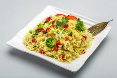 Pulav de biryani de Veg ou de veg ou riz cuit Photo stock