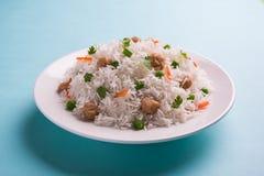 Pulav ou arroz do pedaço da soja fotografia de stock