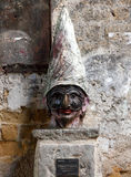 Pulcinella in the historic center of Naples. Royalty Free Stock Photography