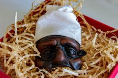 The Pulcinella mask,a famous Neapolitan comedy character. stock images