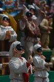 Pulcinella pizza figurine at Naples. The iconic representing of the naples land and its food Stock Images