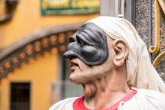 Pulcinella, statuetta famosa di natale in nuche immagini stock libere da diritti