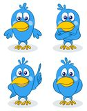 Pulcini blu degli uccelli, insieme illustrazione di stock