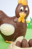 Pulcini del cioccolato Fotografia Stock
