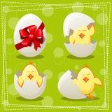 Pulcini delle uova di Pasqua Immagini Stock Libere da Diritti