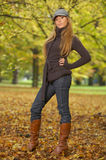Pulcino di autunno fotografia stock