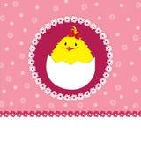 Pulcino sveglio - neonata royalty illustrazione gratis