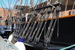Pulegge alte della nave Fotografia Stock