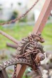 Puleggia in cimitero, dettaglio Fotografia Stock