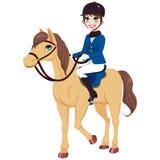 Puleggia tenditrice equestre Girl With Horse Fotografia Stock