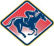 Puleggia tenditrice Horse Racing Side retro Fotografia Stock