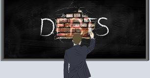 Pulendo i debiti assenti Illustrazione di Stock