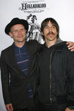 Pulga e Anthony Kiedis fotografia de stock royalty free
