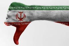 Pulgar abajo Irán Foto de archivo