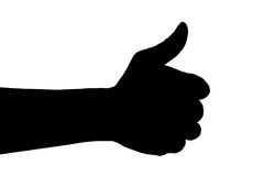 Pulgar adulto de la mano del hombre para arriba, ilustración del vector