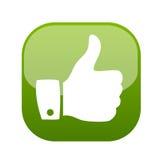 Pulgar encima del vector del icono del gesto Fotos de archivo