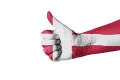 Pulgar para arriba para Dinamarca Fotografía de archivo libre de regalías
