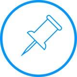 Pulgar Pin Vector Line Icon Imagen de archivo libre de regalías