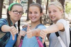 Pulgares de las muchachas Foto de archivo libre de regalías