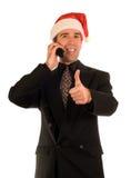 Pulgares de Navidad para arriba foto de archivo