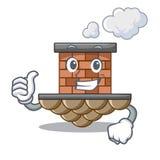 Pulgares encima de la chimenea del ladrillo aislada en el carácter libre illustration