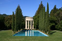 Pulgas Water Temple stock images