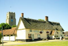 Pulham市场一个田园诗英国村庄 免版税库存图片