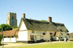 Pulham marknad en idyllisk engelsk by royaltyfria bilder