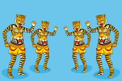 Puli Kali, tiger dance for Onam Royalty Free Stock Photos