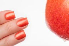 Pulimento de clavo anaranjado Foto de archivo libre de regalías