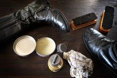 Pulimento de zapato Fotografía de archivo